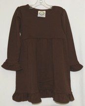 Blanks Boutique Brown Long Sleeve Empire Waist Ruffle Dress Size 2T image 1