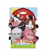Melissa & Doug Farm Friends Hand Puppets Ages 2+ Soft and Cuddly Plush A... - $23.76