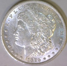 1879 Morgan Dollar; Choice AU+ - $55.43