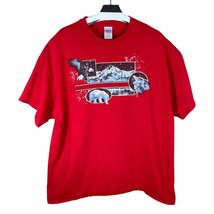 Gildan Mens Red Denali National Park ACE Short Sleeve Pullover T Shirt S... - $20.82