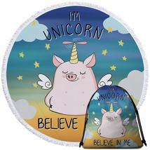 Cute Unicorn Piggy Beach Towel - $12.32+