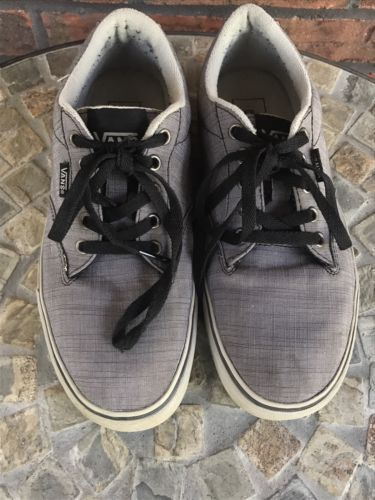 eed9ce0d621 Vans TB4R Classic Skate Shoe Mens Size 8 Gray Black Athletic Lace Up  Sneakers