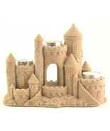 Mr. Sandman Sand Castle Figurine Tealight Holder CAN755 3 Candles - $39.99