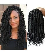 12inch Spring Twist crochet hair curl end 6packs black crochet senegalese spring - $27.69