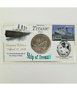 Titanic Ship of Dreams 2002 Somaliland $5 Copper Nickel Coin with Stamp - $65.50