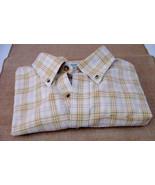 LL Bean Men's Short Sleeve Shirt Yellow Plaid Weekend Wear Button Sz XL ... - $29.99