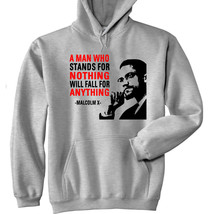 Malcolm X 2 - New Cotton Grey Hoodie - All Sizes In Stock - $31.88