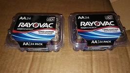 7AA53 RAY-O-VAC Aa High Energy Premium Alkaline Batteries, 48 Ct, Nov 2026 Dated - $29.77