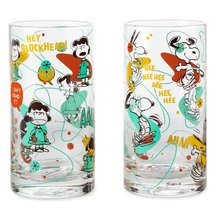 Peanuts Lucy and Snoopy Glass Tumbler Set of 2 Tumblers - $22.71