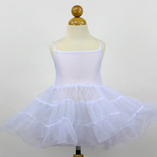 Primary image for White Fully Petticoat Flower Girl Dress