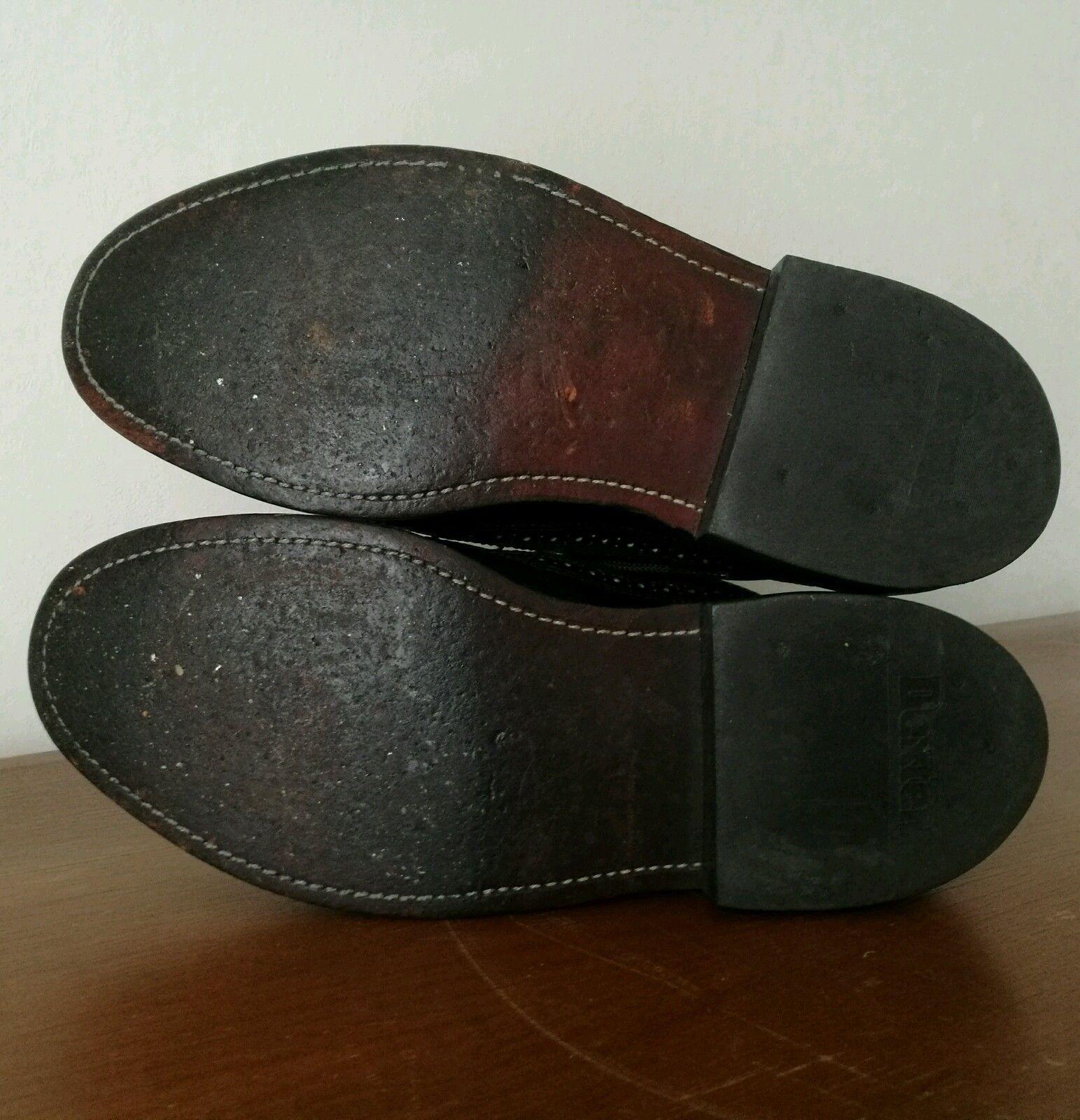 Vintage Dexter Leather Wingtip Brogues Oxford Shoes Men's 7.5 D Black USA Made