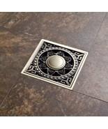Antique Brass Square Floor Drain Shower Waste Water Strainer - $20.45