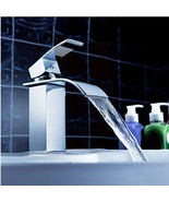 Waterfall Bathroom Sink Faucet Single Handle Basin Mixer Tap Chrome Finish - $49.72