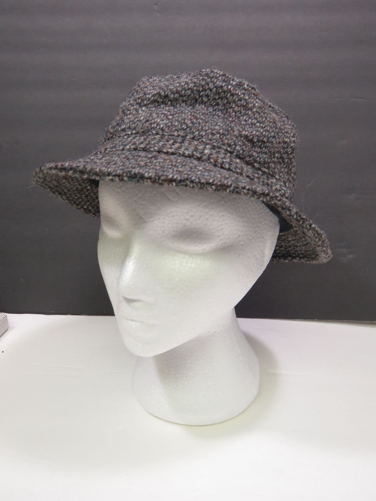 696bcc44d64c8 Vintage LL Bean Harris Tweed Irish Walking Bucket Hat Sz Men s Small  Gore-Tex
