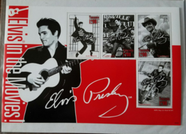 Elvis in the Movies Tanzania Mint  Stamp Sheet of 4 2008 - $7.95