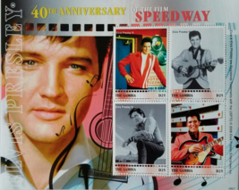 Elvis Presley 40th Anniversary of film SPEEDWAY Mint  Stamp Sheet of 4 2008 - $7.95