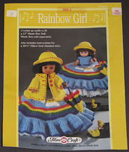 Rainbow Girl FCM212 - Crochet Dress Pattern for Music Box or Pillow Doll - $8.99