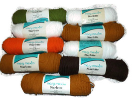 Mary Maxim Starlette- 9 rolls-Yarn Destash - Acrylic Yarn Skeins - Mixed... - $8.01 CAD