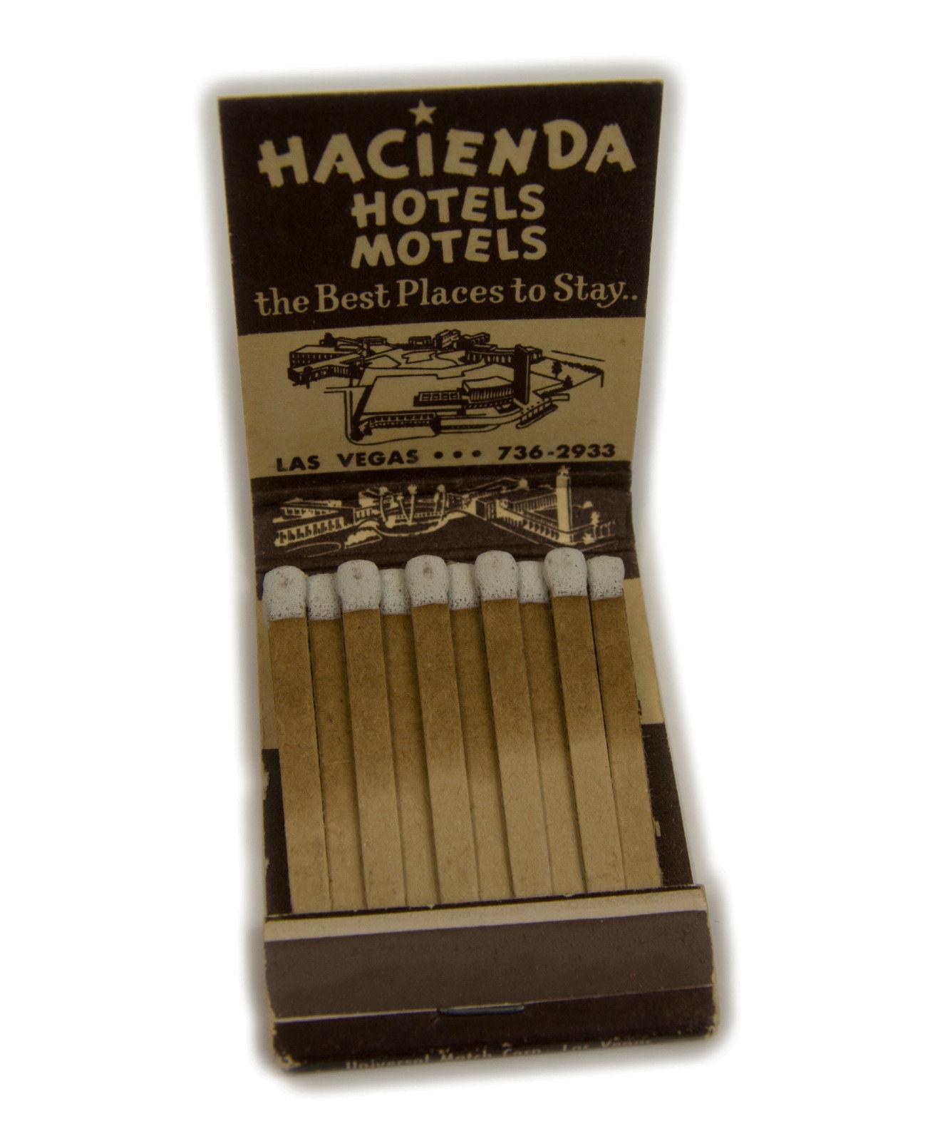 Vintage Hacienda Hotel & Casino Las Vegas Front Striker Matchbook