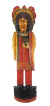 "40"" Cigar Indian HUGE Hand Crafted Wooden Statue Sculpture cowboys horse... - $69.29"