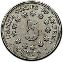 1869 SHIELD NICKEL 5¢ COIN Lot# A 312 image 2