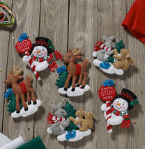 Bucilla 'Santa Stop Here Ornaments' Felt Embroidery Ornament Kit, Set of 6 - $27.99