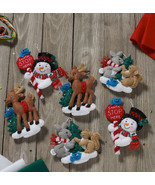 Bucilla 'Santa Stop Here Ornaments' Felt Embroidery Ornament Kit, Set of 6 - $27.99