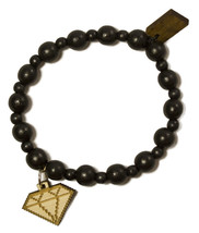 Good Wood New York 8 Bit Diamante Naturale Legno Perline Elastico Moda Bracciale