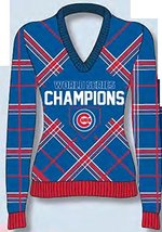 Chicago Cubs 2016 WS Champs Women's Ugly Sweater - $72.26