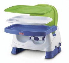Baby Feeding Booster Chair FisherPrice Healthy Care Deluxe Seat BlueGree... - $48.78