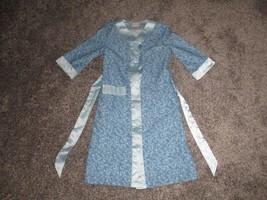 American Girl Rebecca Robe, Blue Print Kimono Style Robe, Girls Medium - $11.99