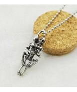 Men Infinity Tibet Silver Black Stainless Steel Skull Pendant Chain Neck... - $7.99