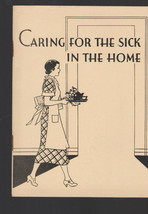 Caring for the Sick in the Home 1936 John Hancock Insurance Booklet - $14.02
