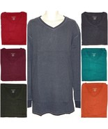 Sonoma Mens Big & Tall Solid Cotton V-Neck Long Sleeve Everyday Tee Top ... - $20.00