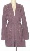 Sonoma NEW Purple Crochet Wrap Cardigan Sweater Misses S Small $58 - $29.00