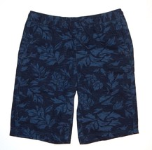 Urban Pipeline Navy Print Flat Front Classic Length Mens Shorts M XL NEW... - $24.00