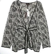Dana Buchman Modern Tribal Animal Print Tie Sweater Cardigan Womans 2X N... - $40.00