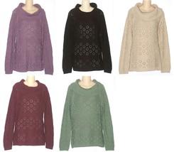 Croft & Barrow Women's Cowl Neck Sweater Size S M L XL NEW $50 - $25.00
