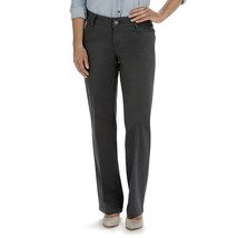 Lee Womens Maxwell Curvy-Fit Gray Trouser Pants 16 Short NEW $40 - $24.00
