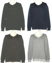 Apt.9 NEW Black Blue Gray or Striped V-Neck Dressy Sweater Mens S M L XL... - $30.00