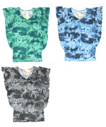 Energie Blue Green or Gray Tie Dye Ruffled Top Juniors S M NEW $24 - $12.00