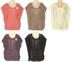 Sonoma Womens Poncho Sweater S M L Coral Beige Ivory Purple Black NEW $50 - $25.00