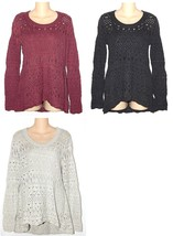 Sonoma NEW Berry Charcoal or Gray Hi-Lo Sweater Cami Set Misses S M L $50 - $25.00
