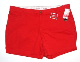 Lee Woman's Size 24W Red Comfort Stretch Waistband Shorts NEW $46 - $28.00