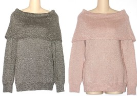 Dana Buchman Pink or Gray Lurex Marilyn Sweater Womens or Plus Size NEW ... - $39.00+