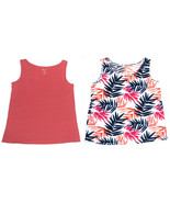 White Stag NEW Pink Rose or Print Scoop Neck Slinky Tank Top Womens Size... - $11.75