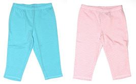 Faded Glory NEW Pink or Aqua Blue Polka Dot Capri Legging Pants Girls Size S  L - $8.00