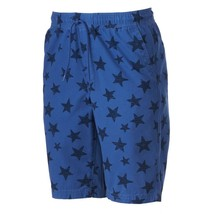 Urban Pipeline Mens Blue Stars Shorts Drawstring 4-Pocket 12-inch Inseam... - $20.00