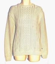 Chaps NEW Oatmeal Beige 100% Cotton Knit Crew Neck Sweater Mens Size M XL $79 - $39.00