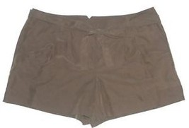 Elle NEW Olive Green Cuffed Fabric Belt Dress Shorts Misses Size 16 $40 - $20.00